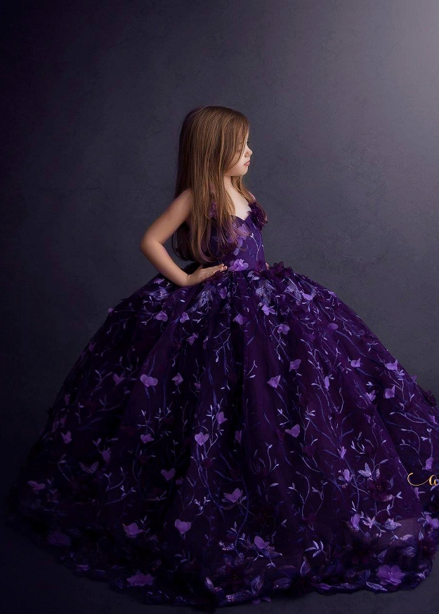 Kira Gown - Deep Purple